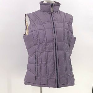 woolrich womens puffer vest amethyst sz L Large